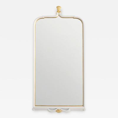 SWEDISH ART DECO MIRROR WITH GOLD CROWN