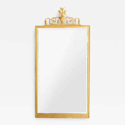 SWEDISH GRACE ART DECO GILT WOOD MIRROR