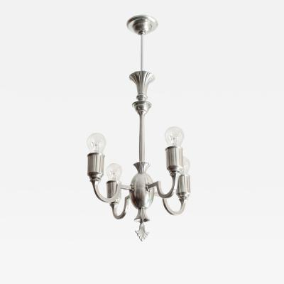 SWEDISH GRACE PEWTER CHANDELIER WITH 4 ARMS SWEDEN 1930