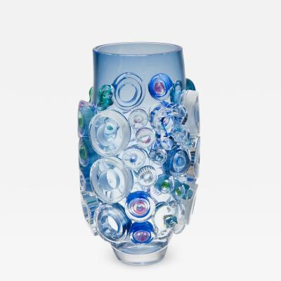 Sabine Lintzen Bright Field Aquamarine with Circles