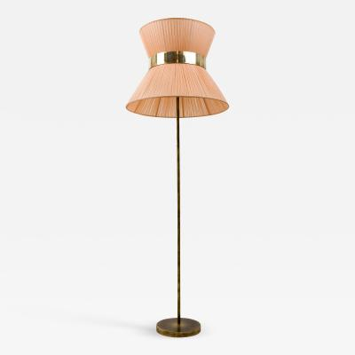 Sabrina Landini Tiffany Floor Lamp in powder Silk Brass Silvered Glass Handmade in Tuscany