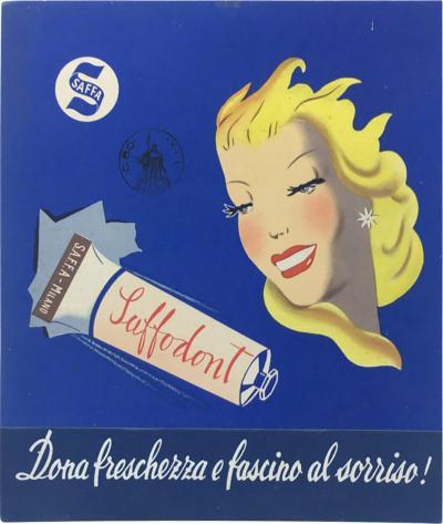 Saffa carton toothpaste advertising 1950s
