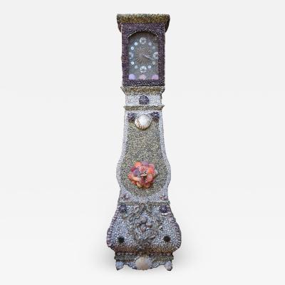 Sailor made Vintage Seashell Long Case Clock