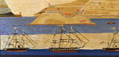Sailors Woolwork or Woolie of a Royal Navy Squadron at Bocca Tigris
