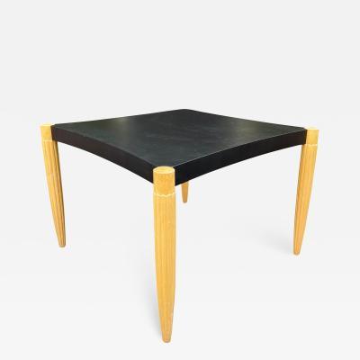 Sally Sirkin Lewis Art Deco Style J Robert Scott Leather Top Game Table
