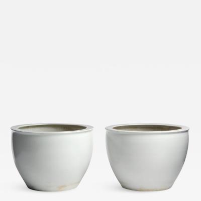 Salt Glazed Ceramic Jardinieres