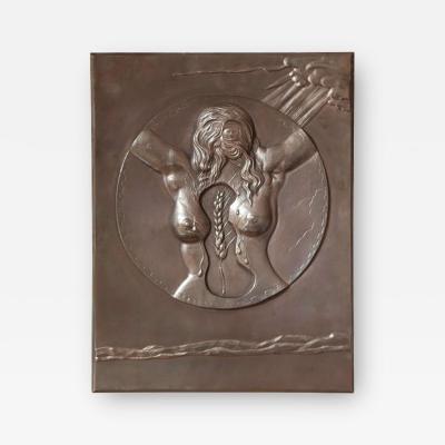 Salvador Dal DALI Bronze bas relief Fe condite