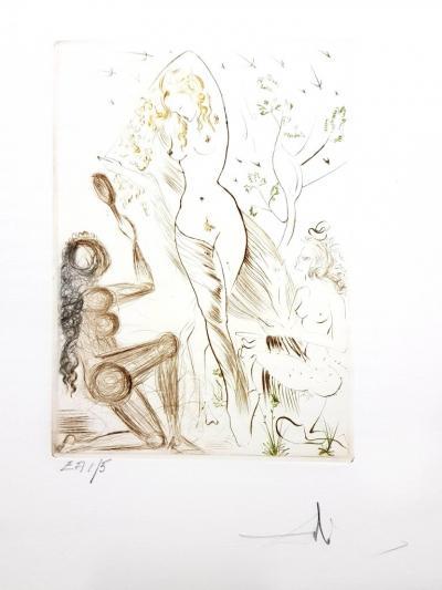 Salvador Dal Decameron Portfolio of 10 Original Signed Engravings by Salvador Dali