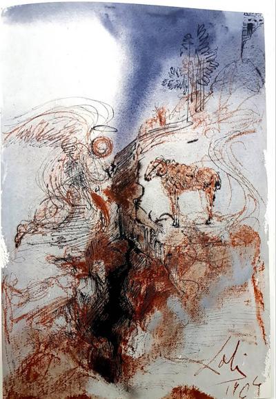 Salvador Dal Salvador Dali Biblia Sacra Lithograph