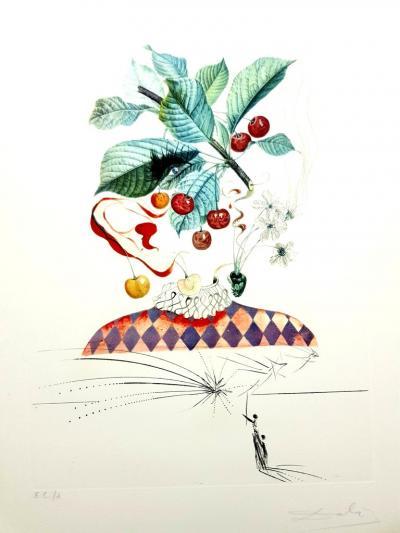 Salvador Dal Salvador Dali Cherries Original Hand Signed Lithograph