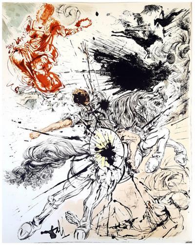 Salvador Dal Salvador Dali Don Quichotte Original Lithograph