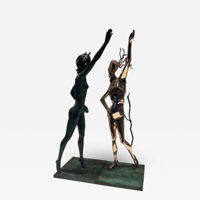 Salvador Dal Salvador Dali Homage to Terpsichore Bronzes Pair