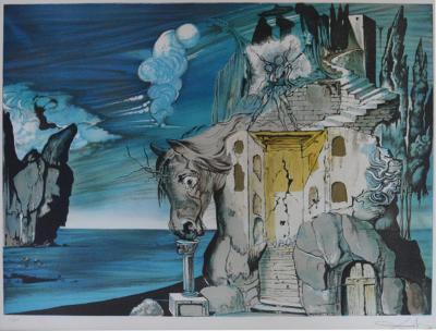 Salvador Dal Salvador Dali Mad Tristan Lithograph 1981s