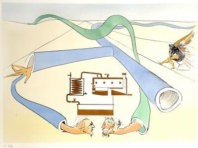 Salvador Dal Salvador Dali Oil Refining Original Etching