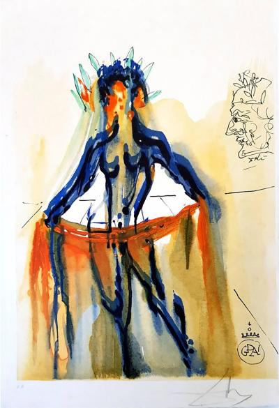 Salvador Dal Salvador Dali The Art of Loving Handsigned Woodcut