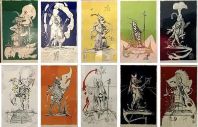 Salvador Dal Set of 10 lithographs Les Songes Drolatiques de Pantagruel