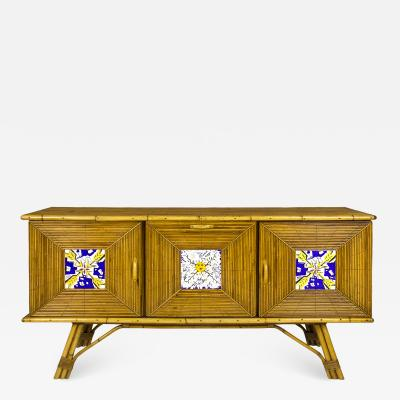Salvador Dal Sideboard with Salvador Dali Tiles circa 1954 Spain