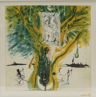 Salvador Dal The Emerald Of The Tablet Salvador Dali Silk Serigraphy 1976 1989 2000