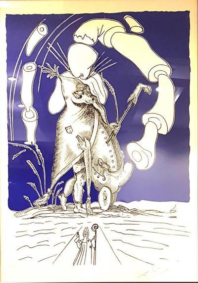 Salvador Dali Les Songes Drolatiques Handsigned Lithograph