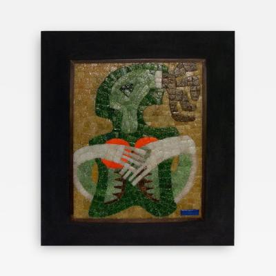 Salvador Teran Framed Glass Tile Mosaic by Salvador Teran