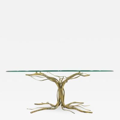 Salvino Marsura Salvino Marsura Tree Form Sofa Table Metal and Glass Italy 1959