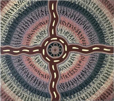 Sam Dickensen Australian Aboriginal Painting by Sam Dickensen
