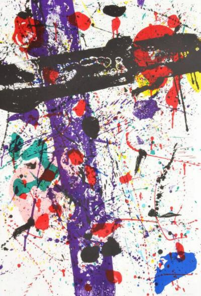Sam Francis Large Sam Francis Lithograph Signed Limited Edition