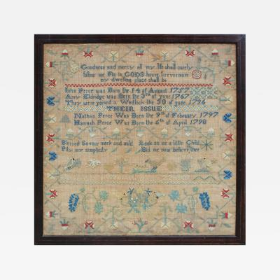 Sampler by Hannah Perce Gloucester County New Jersey 1809