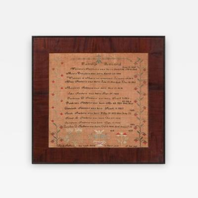 Sampler by Sarah Smithers Milford Hundred Kent County Delaware 1838