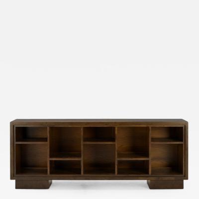 Samuel A Marx Long Low Bookshelf with Ten Shelves Samuel Marx American c 1940