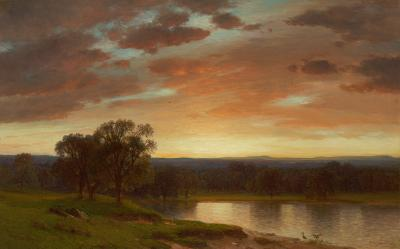 Samuel Colman Twilight Valley of the Genesee