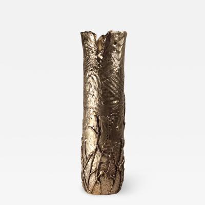 Samuel Costantini Autumn Hand Sculpted Vase by Samuel Costantini