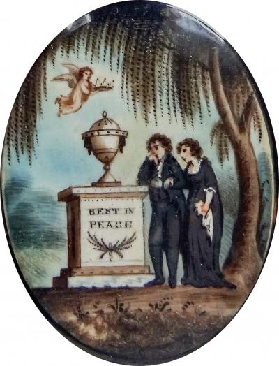 Samuel Folwell Mourning Miniature in Memory of Martha Helen Medicus Alston Hawkins