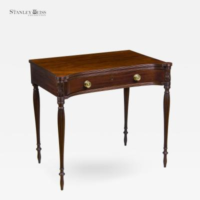 Samuel McIntire A Fine Concave Mahogany Federal Sheraton Dressing Writing Table c 1800 10