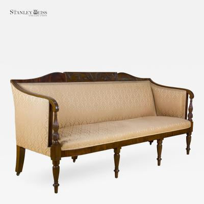 Samuel McIntire A Grand Carved Mahogany Sheraton Sofa Salem c 1800 1810