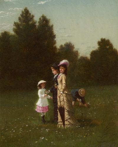 Samuel S Carr Figures in a Field
