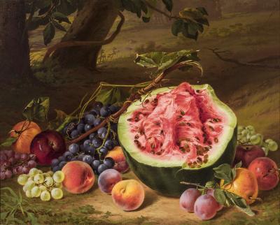 Samuel W Fuller Fruit on a Forest Floor