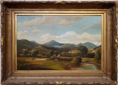 Samuel W Griggs View of Mount Chocurua New Hampshire Landscape Painting Signed By Samuel Griggs