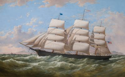 Samuel Walters Clipper LUCY S WILLS off the Skerries