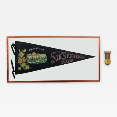 San Francisco Panama Pacific Exposition of 1915 Souvenir Banner Entrance Badge