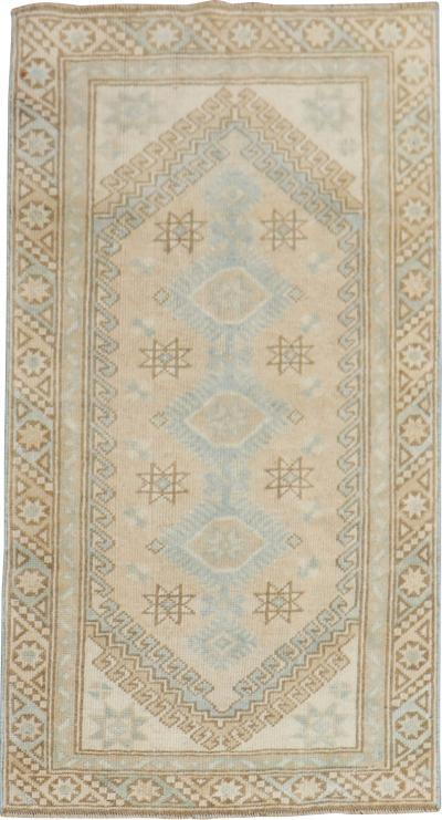 Sand Brown Vintage Turkish RUg rug no r5300