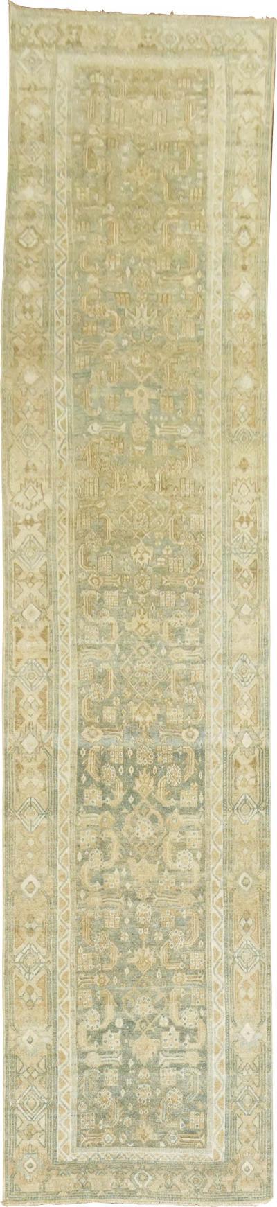 Sand Green Persian Runner rug no j1745