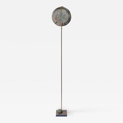 Sander Bottinga Circle Blue Grey Floor Lamp Sander Bottinga