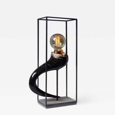 Sander Bottinga Wildebeest Horn Table Lamp Sander Bottinga