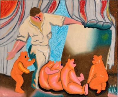 Sandro Chia Painter with Teddy Bears