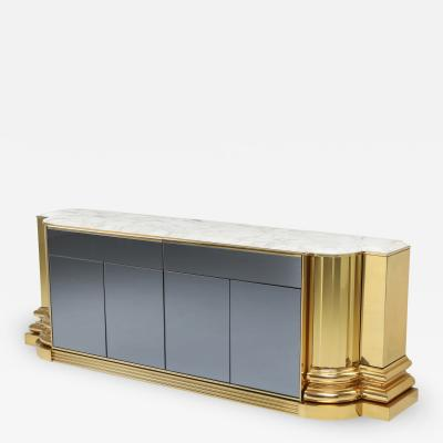 Sandro Petti Brass And Marble Credenza by Sandro Petti for Maison Jansen 1970s