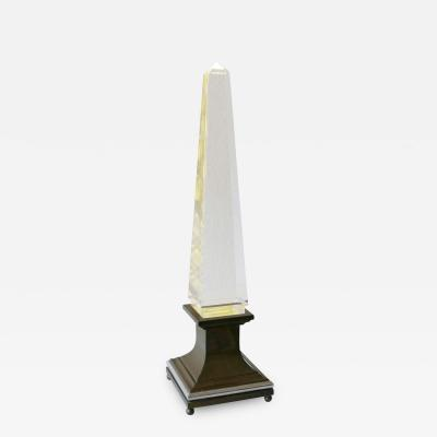 Sandro Petti Lucite Obelisk Table Lamp by Sandro Petti for Maison Jansen France 1970s