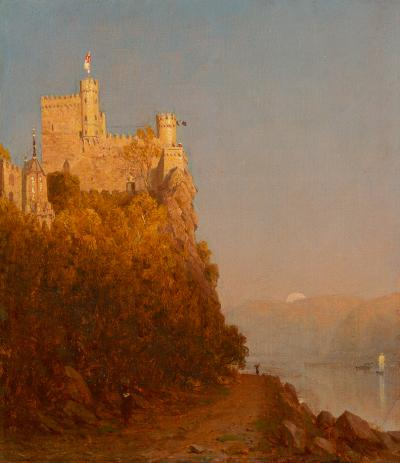 Sanford Robinson Gifford A Sketch of Schloss Rheinstein