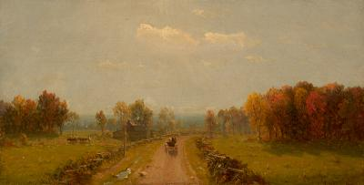 Sanford Robinson Gifford Carriage on a Country Road