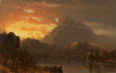 Sanford Robinson Gifford Sunset in Wilderness with Approaching Rain